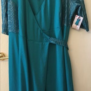 Kiyonna Lace Wrap Dress 3X